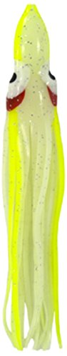 Zak Tackle Squid Bodies Köder (5 Stück), Milky Glitter with Chartreuse Stripe-5 Pack von Zak Tackle