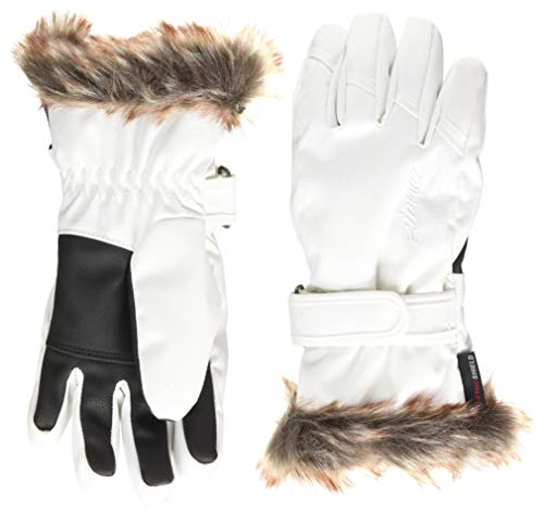Ziener Kinder LIM Girls Glove junior Ski-Handschuhe, White, 7,5 von Ziener