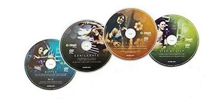 Zumba Fitness Zumba Exhilarate Body-Shaping-System, 4 DVD's Zumba Video Zumba Workout von Zumba Fitness