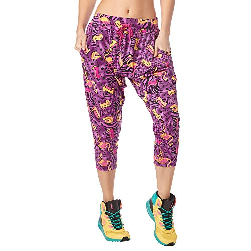Zumba Fitness Damen Women's Soft Breathable Activewear Harem Capri Workout Pants Trousers, Power Purple, S von Zumba Fitness
