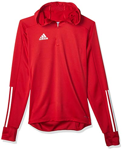 adidas Herren CON20 TK Hood Sweatshirt, Team Power red/White, 2XL von adidas