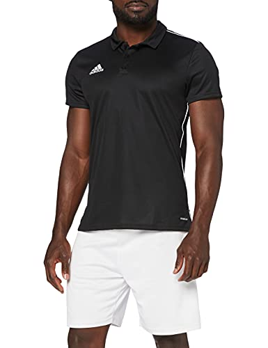 adidas Herren CORE18 Polo Shirt, Black/White, S von adidas