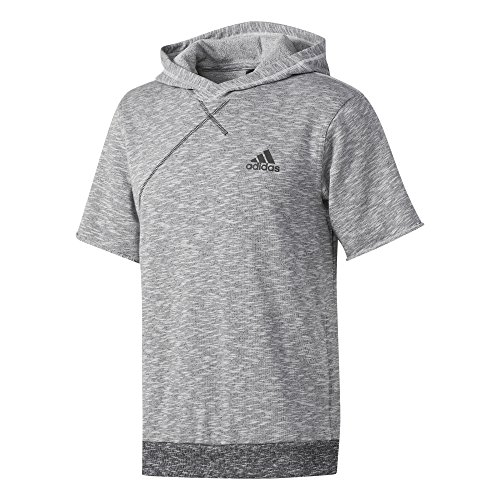 adidas Herren Hoodie Cross-Up, Lgsogr/Black, XLT, BP7266 von adidas