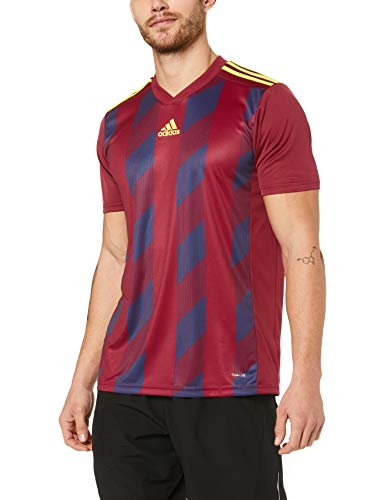 adidas Herren Striped 19 JSY T-Shirt, Collegiate Burgundy/Bright Yellow, 11-12 von adidas
