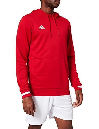 adidas Herren T19 Hoody M Sweatshirt, Power red/White, XL von adidas