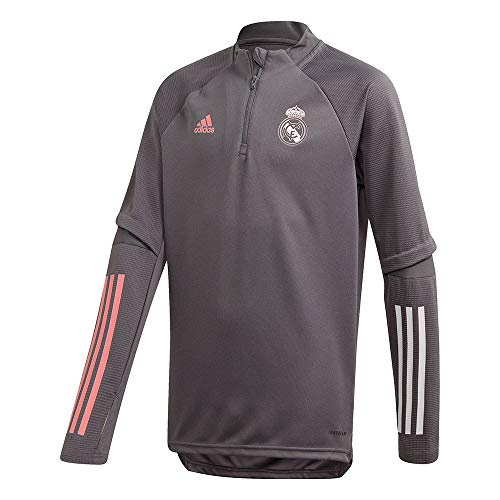 Real Madrid Kinder Saison 2020/21 Trainingsjacke Offiziell, Grau, 7/8 Jahare von Real Madrid C.F.