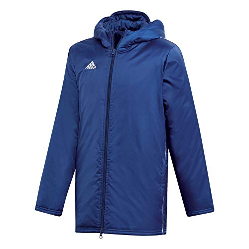 adidas Kinder CORE18 STD JKTY Sport Jacket, Dark Blue/White, 1314Y von adidas
