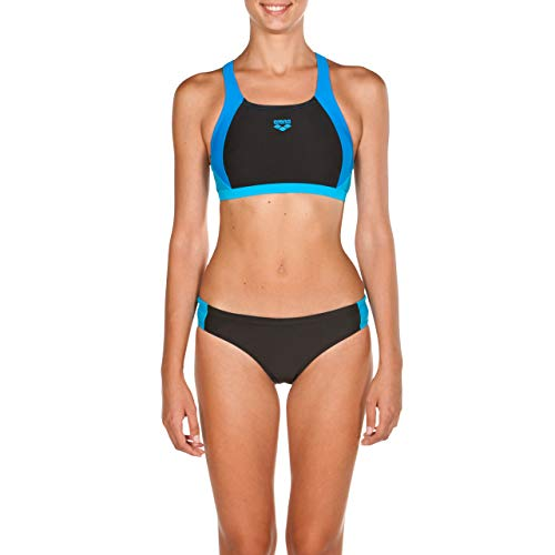 arena Ren Two Pieces Swimsuit Women Black-pix Blue-Turquoise Größe DE 36 | US 32 2018 Bikini von arena