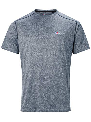 berghaus Damen Explorer Base Crew Short-Sleeve T-Shirt, Grey (Carbon), XS von berghaus