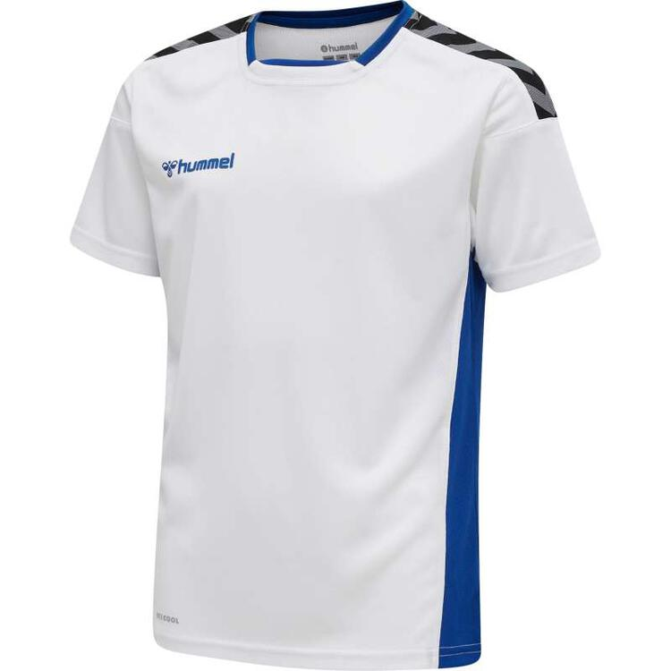 Hummel AUTHENTIC Kinder POLY JERSEY S/S WHITE/TRUE BLUE 204920-9368...