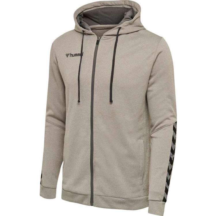 Hummel AUTHENTIC POLY ZIP HOODIE GREY MELANGE 204937-2006 Gr. 3XL