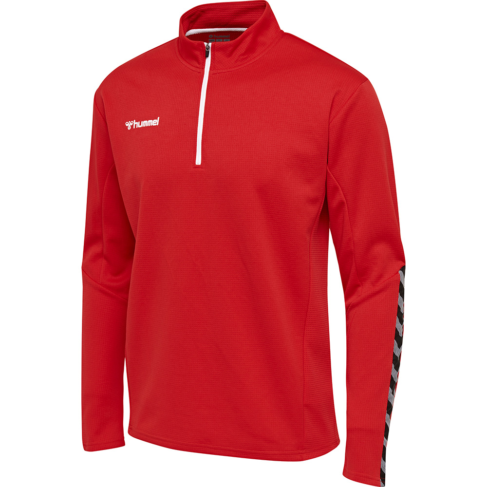 Hummel Authentic Half Zip Sweatshirt Kinder - rot