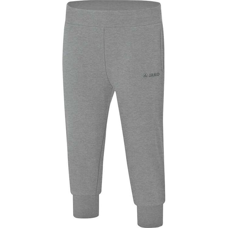 Jako Sweat Capri Basic anthrazit meliert 6703 21 Gr. 34