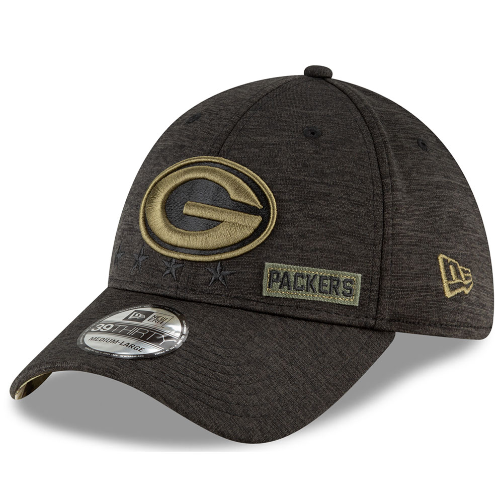 New Era Salute to Service 2020 39Thirty Green Bay Packers - schwarz
