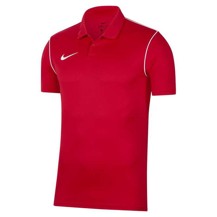 Nike MEN'S NIKE-DRI-FIT PARK20 POLO MEN' UNIVERSITY RED/WHITE/WHITE...