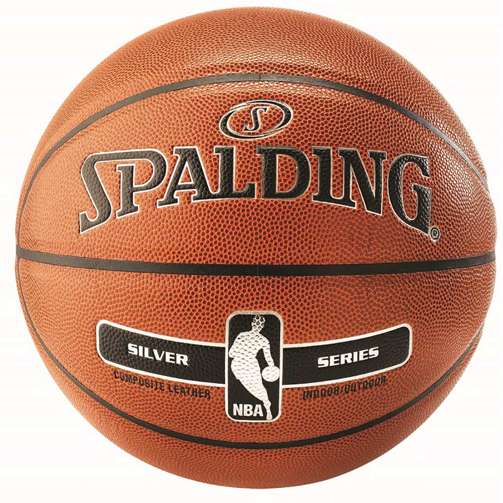 Spalding NBA Silver In/Out Basketball - orange