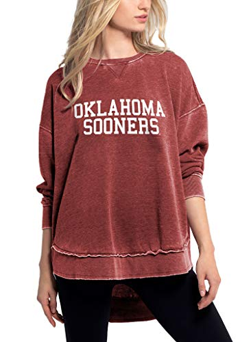 chicka-d NCAA Damen Burnout Crew Sweatshirt, Damen, Scharlachrot, Small von chicka-d