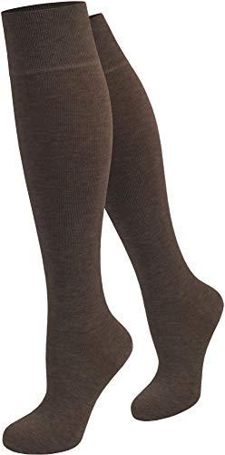 Circle Five 1,2 oder 3 Paar Damen Kniestr/ümpfe traditionelle Trachtenmode mit Satinschleife und eingestrickter R/üsche von Gr/ö/ße 35 bis 42