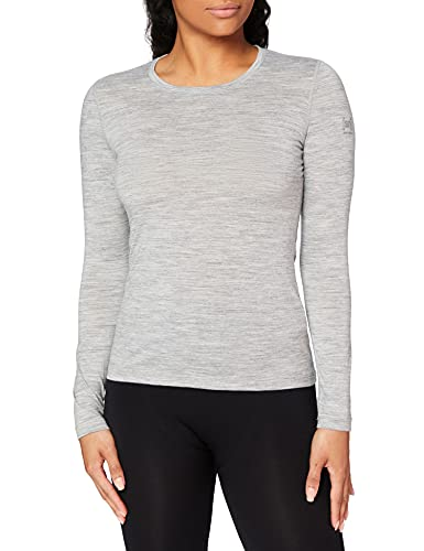 Super.Natural Damen Base Longsleeve 175 Langarm Shirt, Hellgrau, L von super.natural