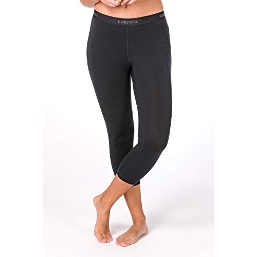 Super.Natural Damen Base 3/4 Leggings 230, Schwarz, S von super.natural