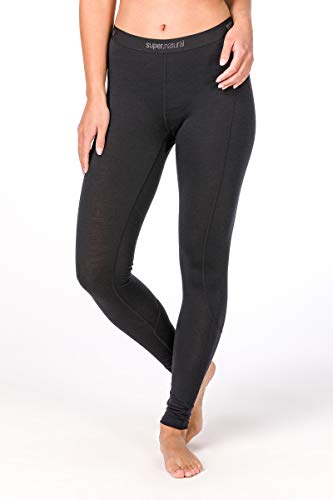 Super.Natural Damen Base Merino Tight, Schwarz (Jet Black), XS von super.natural