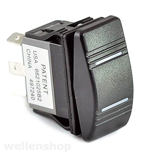 wellenshop 12V LED Kippschalter ON-Off-ON 25 A von wellenshop