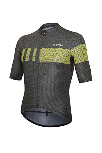 Zero Rh+ Super Light Herren Jersey Man Bike Bekleidung, Pixel Black/Yellow Fluo, XXL von zerorh+
